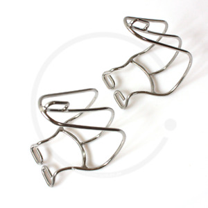 MKS Cage Clip Toe Clips   Chromed Steel   size S - M - L