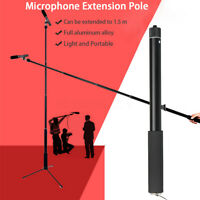 Micro Boom Pole Microphone Mic Holder 5 Section Boompole 35.5cm-150cm   N