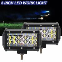 "2x 5"" Inch 84 W LED Off Road Work Light Bar Spot Beam Driving Fog Lights Lamps"