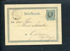 TEGEN VOORSCHRIFTEN: puntstempel 51 HEERENVEEN op briefkaart 1876 naar Geldern