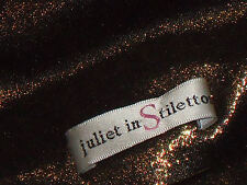 JULIET in STILETTOS GoldBlackSheerAnimalPrintPartyMiniSize10