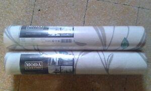 2 Rolls Luxury Moda Black Label Bargello Wallpaper Leaf Pattern 41305 Shade 2