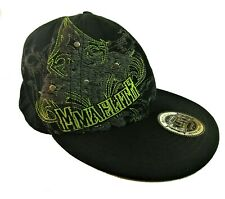 Official MMA Elite Fitted Baseball Cap w/Rivets L/XL # 115665 Black/Lime Green
