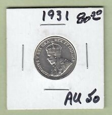 1931 Canadian 5 Cents Coin - AU-50
