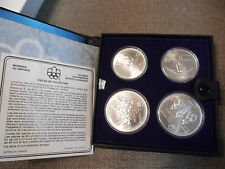 1976-Canada-Montreal-Olympic-Games-4) Coin Set Series III (4) w/  BOX/COA
