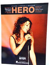Vintage Sheet Music Song HERO by Mariah Carey Piano/Vocal/Guitar