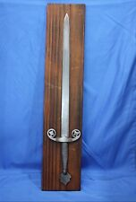 Vintage Toledo Sword on Wood Plaque
