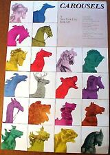CAROUSELS NEW YORK CITY FOLK ART POSTER CENTRAL PARK DAIRY EXHIBITION 1983 HORSE