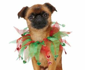 Aria Holiday Heart Dog Scrunchy Pet Scrunchies Christmas Red Green
