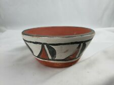 Unsigned excellent small hand painted native american vase 1990s