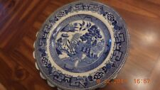 """Old WilLOW ROYAL VENTON WARE PLATE - 9"""" BLUE"""