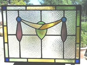 STAINED GLASS PANEL - FULLY RESTORED - VINTAGE - REF SG520 see my other panels