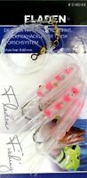 4 Pink White Octopus Rigs 3 Hook 4/0 Fishing Cod Mackerel Feathers Traces Fladen