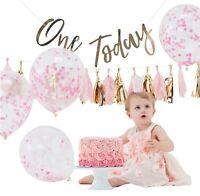 Baby Girls 1st Birthday Cake Smash Photo Shoot Pastel Pink Gold Decorating Kit