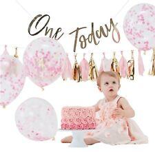 bébé filles 1st gâteau d'anniversaire Smash séance photo Pastel Rose Doré