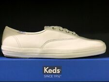 Keds Womens Low Top Champion Leather Oxford White Lace Up Sneakers Shoes NIB