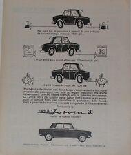Advert Pubblicità 1965 LANCIA FULVIA 2C