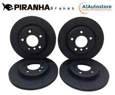 Ford Mondeo 00-07 Front Rear Brake Discs Coated Black Dimpled Grooved Piranha