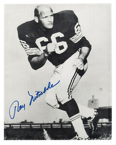 RAY NITSCHKE SIGNED AUTOGRAPHED 8x10 PHOTO GREEN BAY PACKERS LEGEND BECKETT BAS