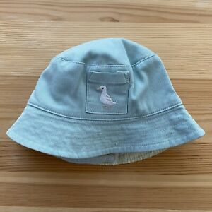 JANIE AND JACK First Spring Reversible Bucket Hat Size 6-12 Months EUC