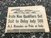 MAY 22 1974 NATIONAL SPEED & SPORTS NEWS car racing newspaper - INDY 500 DELAY