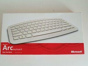 Microsoft WHITE ARCWireless Keyboard - VERY RARE New Open Box  PC or MAC READ