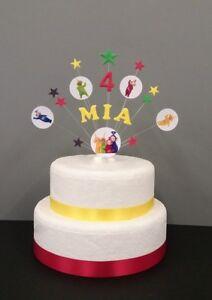 Teletubbie, star Birthday/ Celebration Cake Topper , personalised any name, age