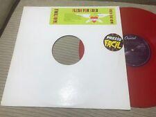 "FLESH FOR LULU - FINAL VINYL 12"" LP REMIXES + LIVE - RED VINYL PROMO SYNTH WAVE"