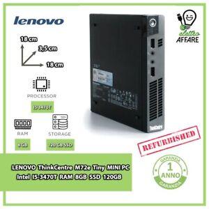 LENOVO ThinkCentre M72e Tiny MINI PC i5-3470T/8GB/SSD120GB