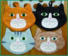 ALLIE CATS! Pot HOlder or Mug Rug pattern- Susie Shore Designs Quilting