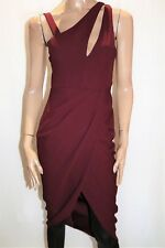 HELLO MOLLY Brand Burgundy Wrap Style Skirt Sheath Dress Size 12 BNWT #TP17