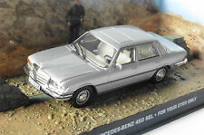 MERCEDES 450 SEL JAMES BOND FOR YOUR EYES ONLY UNIVERSAL HOBBIES 1/43 DIORAMA