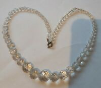 Vintage Faceted crystal Necklace