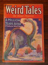 Weird Tales Nov 1930 C. C. Senf Cvr; R. E. Howard; King Kull; Quinn;