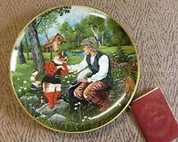 EUC ' Puss In Boots' Fairy Tales Collector Plate Kaiser Porcelain Box Plus COA
