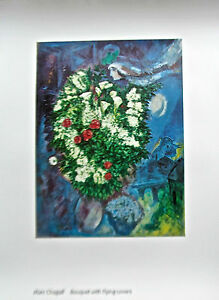Marc Chagall Poster Bouquet of Flowers from Tate UK Flowers and Lovers 30x23