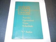 1954  DODGE TRUCK C SERIES  SERVICE OPERATION TIME SCHEDULE ORIGINAL