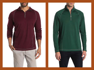 Tommy Bahama ~ Core Goal Keeper Men's XL Zip-Neck Pullover $145 NWT