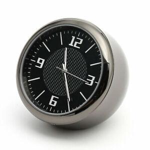 Mini Fluorescent Car Dashboard Air Vent Stick-On Time Clock Quartz Analog Watch