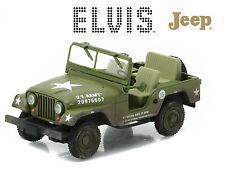 GREENLIGHT 1:43 HOLLYWOOD ELVIS PRESLEY 1963 JEEP M-38A1 CJ-5 DIECAST CAR 86311