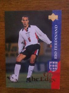 1997 Upper Deck England Soccer Card - RIO FERDINAND Mint Rookie