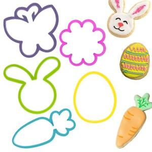 Easter Kitchen - 5 Cookie Cutters - Bunny, Egg, Carrot, Flower and Butterfly