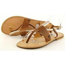 Sandalias y chanclas de mujer planos marrón, talla 37.5