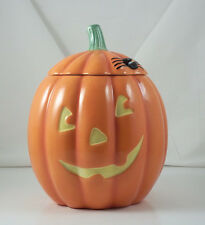 Hallmark Halloween Pumpkin Spider Jack-O-Lantern Ceramic Cookie Jar