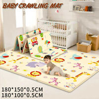 Cartoon Children Double-sided Folding Crawling Mat Baby Indoor Outdoor Play Mats