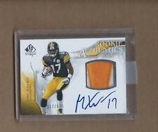 2009 SP AUTHENTIC MIKE WALLACE RC RPA AUTO 2 COLOR PATCH 107/999 STEELERS