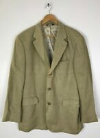 BROOKS BROTHERS 346 Mens Size 42R Tan Tweed Wool Silk Blend Sport Coat Blazer