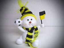 Poly Football Kicker Enfants de neige Jaune Noir Bonhomme de neige avec Fanion