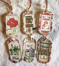 Set of 6 Hang Tags~Summer Garden Time~Gift Tags~Scrapbooking~Card Making~#275R