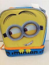 """Despicable Me Childrens Lunch Box 9"""" X 7.5"""" X 4.5"""" Yellow and Blue Ages 4+"""